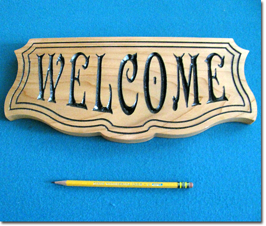 Beyond Carving :: Plaque (Welcome)